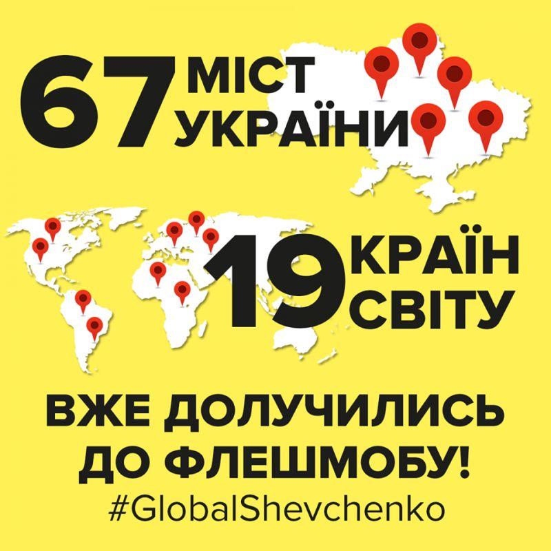 """Міжнародний флешмоб """"Global Shevchenko"""""""