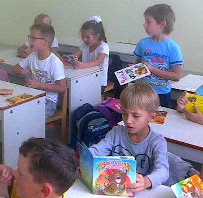 Міні-бібліотека у першому класі Вишнівецької ЗОШ