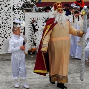 Зимова чарівна казка зі Святим Миколаєм