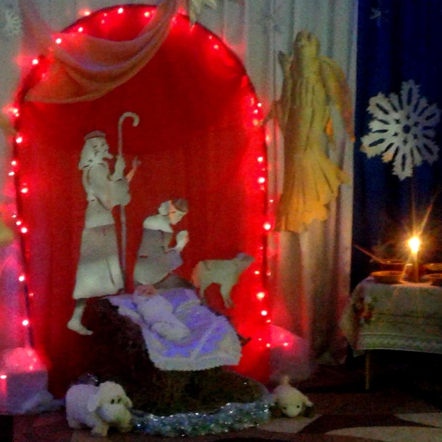 Різдвяний вертеп у Старовишнівецькому ЗДО «Ластівка»
