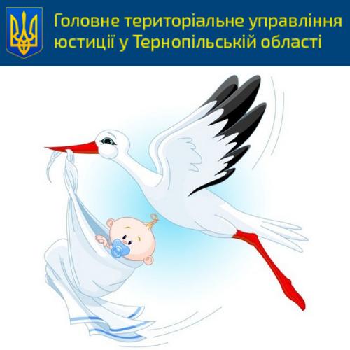 Від початку року в пологових області вручили 4334 свідоцтва про народження дітей
