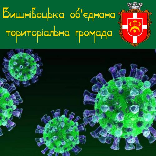 Нові випадки захворювання на COVID-19 у Вишнівецькій ОТГ