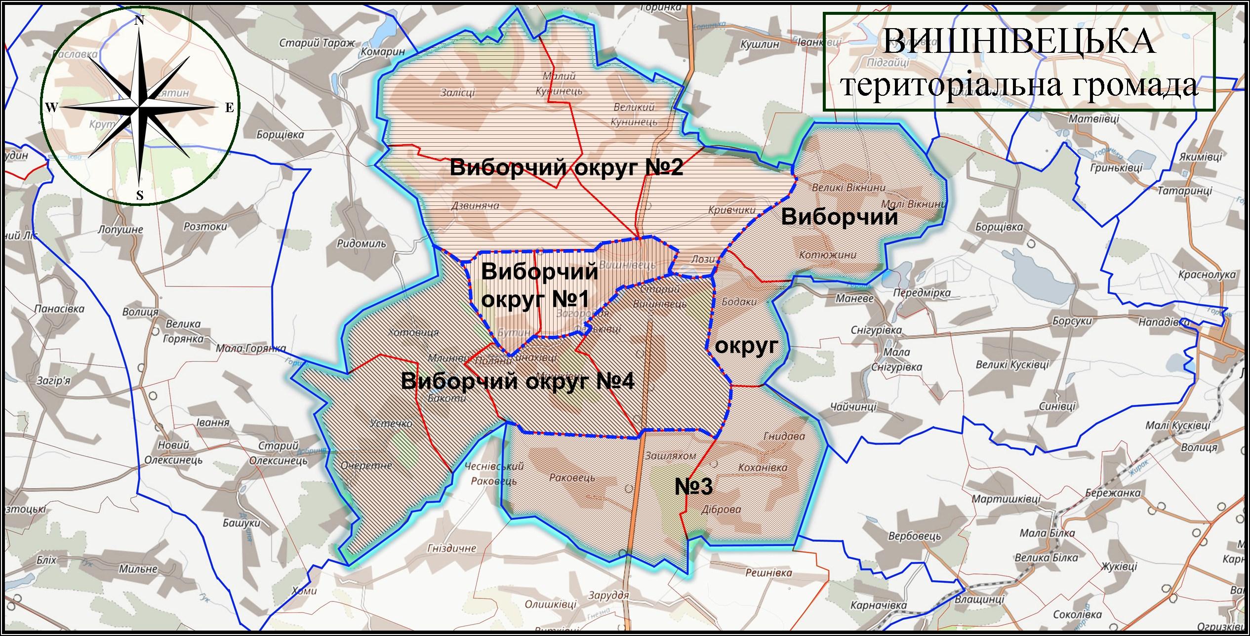 МАПА ГРОМАДИ 2021 виборчі округи 2